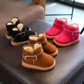 兒童雪地靴男童1-2-3歲冬季女童短靴子加絨女寶寶棉鞋子小童保暖5