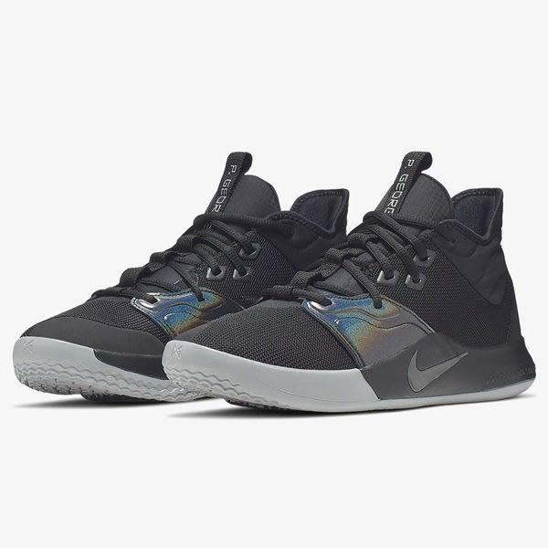 Nike PG 3 Iridescent 男鞋 籃球 Paul George 低筒 避震 包覆 黑 【運動世界】 AO2608-003