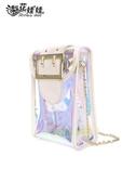 (免運) 夏天果凍手機包女新款透明裝手機的迷你冷氣風扇斜背小包包零錢袋掛脖