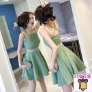 2020新款女裝夏裝顯瘦小個子心機露背流行修身夜店性感吊帶洋裝