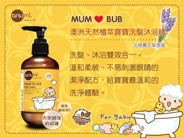 寶寶沐浴精 澳洲 anumi 天然植萃 寶寶 洗髮沐浴精 250ml