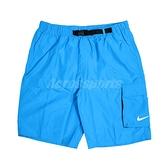 Nike 短褲 Volley Swim Shorts 藍 男款 海灘褲 九吋 可收納【ACS】 NESSB521-406