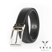 【VOVA】紳士方頭穿針式可旋轉十字紋皮帶(銀色) VA003-003-NK