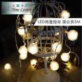 Time Leisure LED聖誕燈飾佈置燈串(蒲公英/暖白/5M)