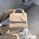 手提包 上新小包包女2021新款韓版洋氣手提鱷魚紋側背包時尚百搭小方包潮 【99免運】