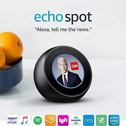 【美國代購】Echo Spot  -  Alexa智能顯示 - 黑色