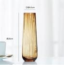 花瓶 簡約一支花玻璃花瓶透明水培花器 餐桌臺面現代裝飾小清新擺設【快速出貨八折鉅惠】