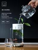魚缸 迷你小魚缸家用創意懶人免換水小型水族辦公室桌透明玻璃生態 快速出貨
