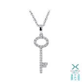 【鑽石屋】鑰匙造型鑲鑽項鍊