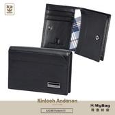 Kinloch Anderson 金安德森 卡夾 Pocket 壓釦式 牛皮名片夾 黑色 KA198008 得意時袋