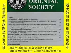 二手書博民逛書店JOURNAL罕見of the AMERICAN ORIENTAL SOCIETY 2019年7-9月 英文版