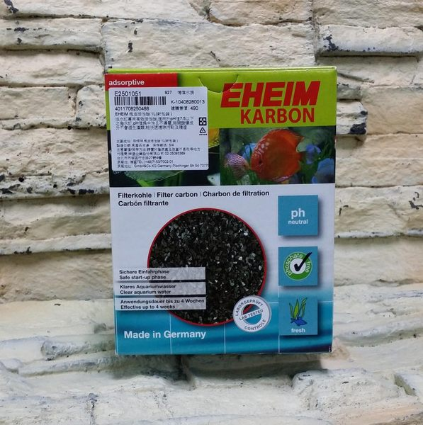 【西高地水族坊】德國EHEIM 椰皮活性碳(1L盒裝)