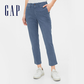 Gap 女裝 時尚水洗九分褲休閒褲 542722-中度靛藍