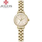 JULIUS 聚利時 恣意暖陽點鑽鋼帶腕錶-金色/23mm 【JA-904B】