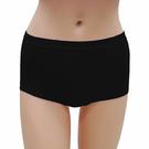 【LADY】舒柔貼身棉中腰三角褲(黑色)