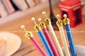 韓國熱銷文具~珍珠皇冠造型金屬材質原子筆中性筆圓珠筆