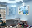 壁貼【橘果設計】地中海窗戶 DIY組合壁...