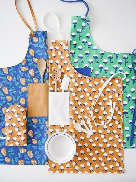 GOING HOME手工創意碎花親子廚房圍裙女做飯家用花店棉麻兒童清新☌zakka