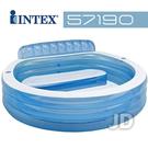 【美國 INTEX】戲水系列-圓型藍色有靠背游泳池/戲水池/游泳池 57190
