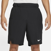 NIKE 運動褲 排汗 短褲 DRI-FIT 黑 白LOGO 網球短褲 男 (布魯克林) CV2544-010