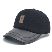 棒球帽-冬季防寒時尚休閒毛呢男護耳帽2色73pi20【巴黎精品】