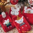 襪子女春秋可愛新年紅襪中筒襪女禮盒裝圣誕【小獅子】