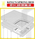 老K牌彈簧床-緹花A級下墊 (一體成型)-3*6.2(免運費/刷卡分期0利率/來訊再給優惠)