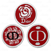 【VT薇拉寶盒】 Dior 迪奧 超惹火系列 玫瑰漫舞貼紙(布面)+浪漫唇印貼紙(布面)+愛戀玫瑰貼紙(布面)