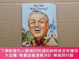 二手書博民逛書店Who罕見Was Walt Disney?誰是沃爾特·迪斯尼? 英文原版Y6886 Whitney Stewa