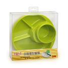 元氣寶寶 日本製分格便利餐盤-綠色