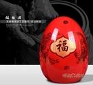 景德鎮陶瓷器中國紅龍鳳福蛋花瓶擺件客廳插花瓶現代時尚家居裝飾MBS「時尚彩紅屋」