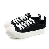 KANGOL 帆布鞋 綁帶 女鞋 黑色 厚底 6952200120 no040