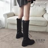 過膝靴 高筒靴女過膝長筒靴子女秋冬2020新款百搭馬丁靴英倫風騎士皮靴潮