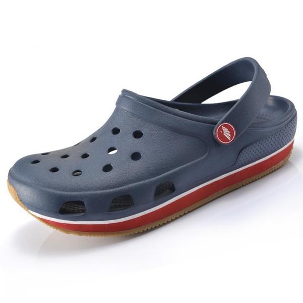 洞洞鞋新品牛筋底男鞋運動戶外洞洞鞋情侶防滑大尺碼沙灘涼鞋拖鞋