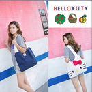 單肩包 Hello Kitty大容量立體蝴蝶結帆布包 手提包 托特包【現貨+預購】