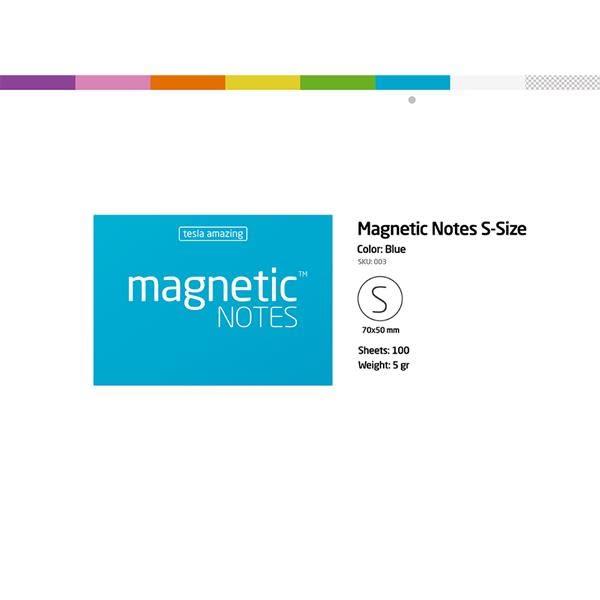 磁力便利貼 Magnetic Notes S-Size藍【Tesla Amazing】