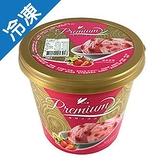 小美優質冰淇淋香草草莓650G/桶【愛買冷凍】