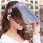 夏季女士騎車遮陽帽太陽帽遮臉防紫外線電動車面罩防曬帽子空頂 英雄聯盟