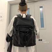 ins風潮牌書包女韓版大學生簡約背包高中工裝風百搭大容量後背包 米娜小鋪