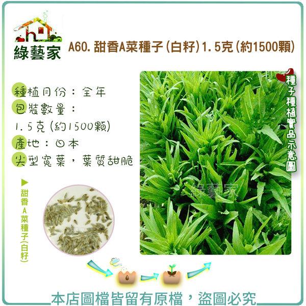 【綠藝家】A60.白籽甜香A菜種子1.5克(約1500顆)