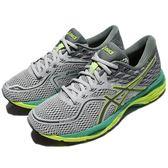 【六折特賣】Asics 慢跑鞋 Gel-Cumulus 19 灰 黃 綠 透氣穩定 女鞋 運動鞋 【PUMP306】 T7B8N9697