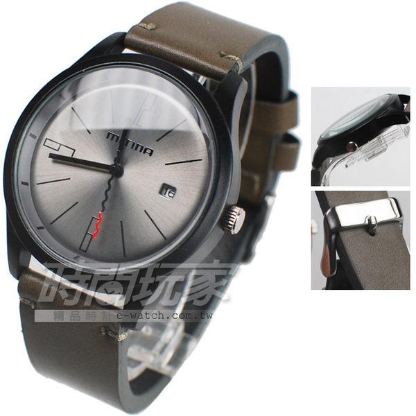 Mitina 中性時尚 日期顯示 個性錶 MIT306IP軍咖 男錶 中性錶 防水手錶 軍錶