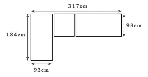 【森可家居】艾斯卡L型布沙發(右向全組) 8ZX534-3 可拆洗