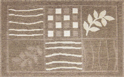 范登伯格 綠洲 大地系圈毛踏墊(內附止滑網)-插畫(深款)60x90cm