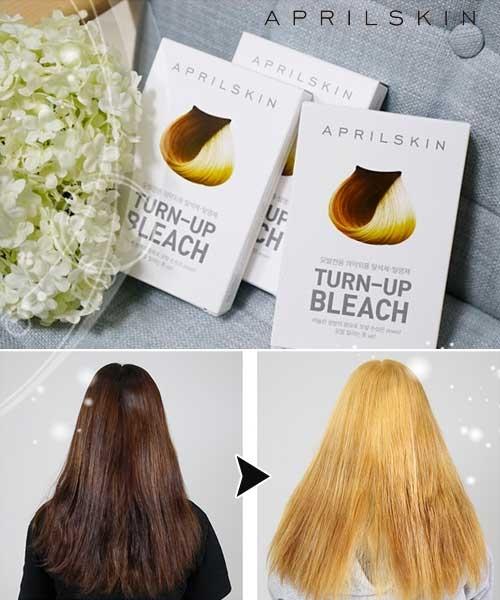 【2wenty6ix】正韓April Skin Turn-up Bleach 速效褪色 漂髮 染髮膏(10g+30ml/盒)