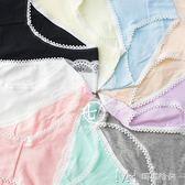 三件套 糖果色內褲純棉舒適純色學生胖次可愛性感蕾絲邊中腰短褲        瑪奇哈朵