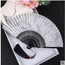 女式扇子絹扇印花日式絲綢折扇中國風工藝舞蹈扇和風女扇