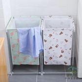 北歐家用棉麻臟衣服收納筐可折疊支架防水儲物箱【步行者戶外生活館】