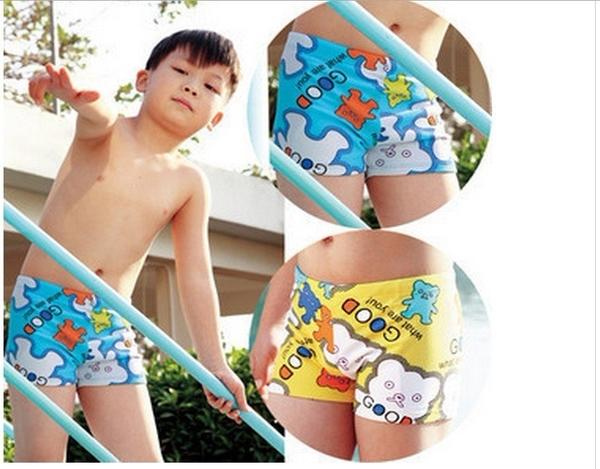 可愛《亮彩印花款》小泳褲.附泳帽