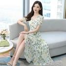 碎花連衣裙2021年新款夏季韓版小個子洋氣減齡溫柔氣質女神范裙子快速出貨